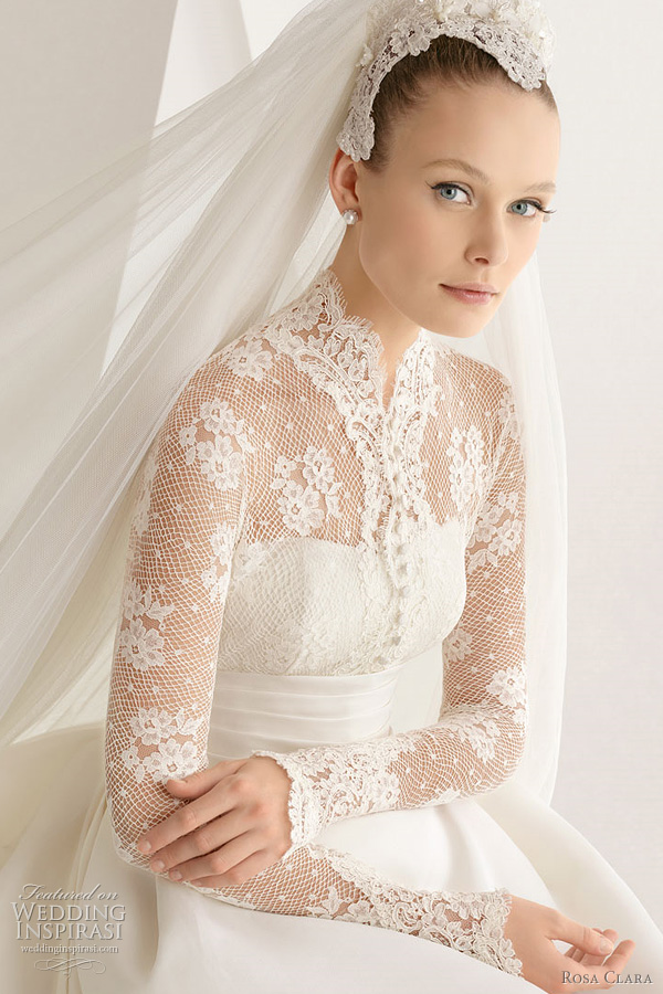 grace kelly inspired wedding dress rosa clara adorno lace bridal gown
