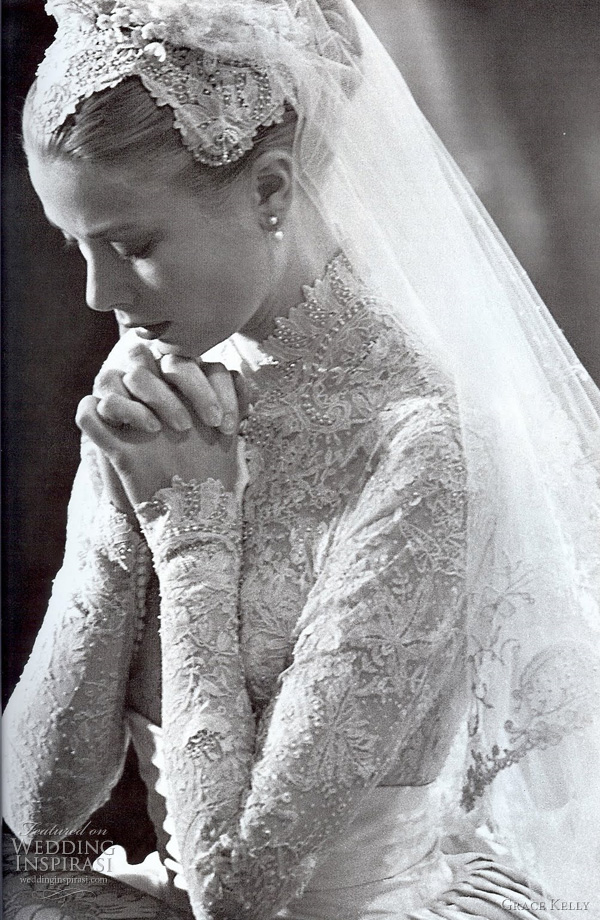 grace kelly wedding dress designed by MGM costume designer helen rose