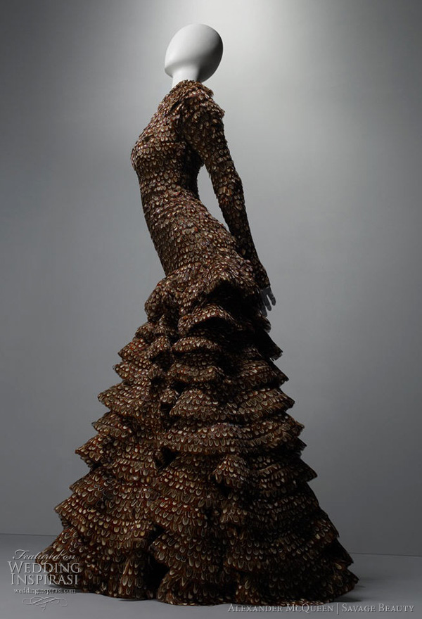 alexander mcqueen wedding dresses 2011 - inspiration from the savage beauty exhibition at The Costume Institute of the Metropolitan Museum of Art, New York