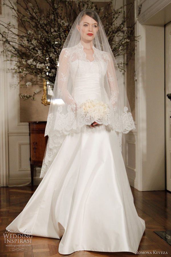 kate middleton grace kelly inspired wedding dress by Romona Keveza