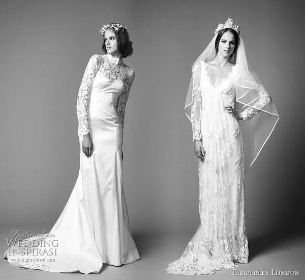 Catherine Middleton Grace Kelly lace long sleeve wedding dress