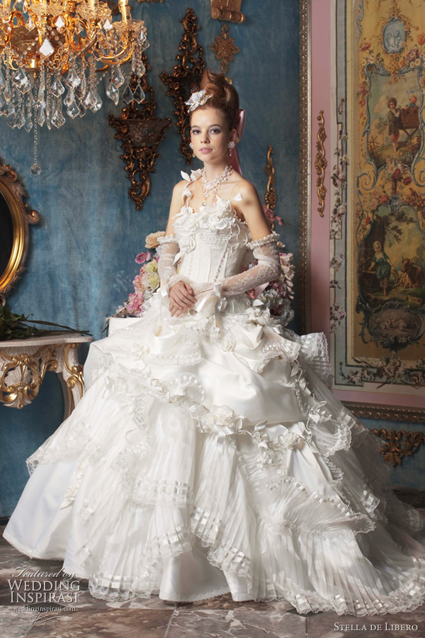 marie antoinette wedding dress - Stella de Libero bridal collection