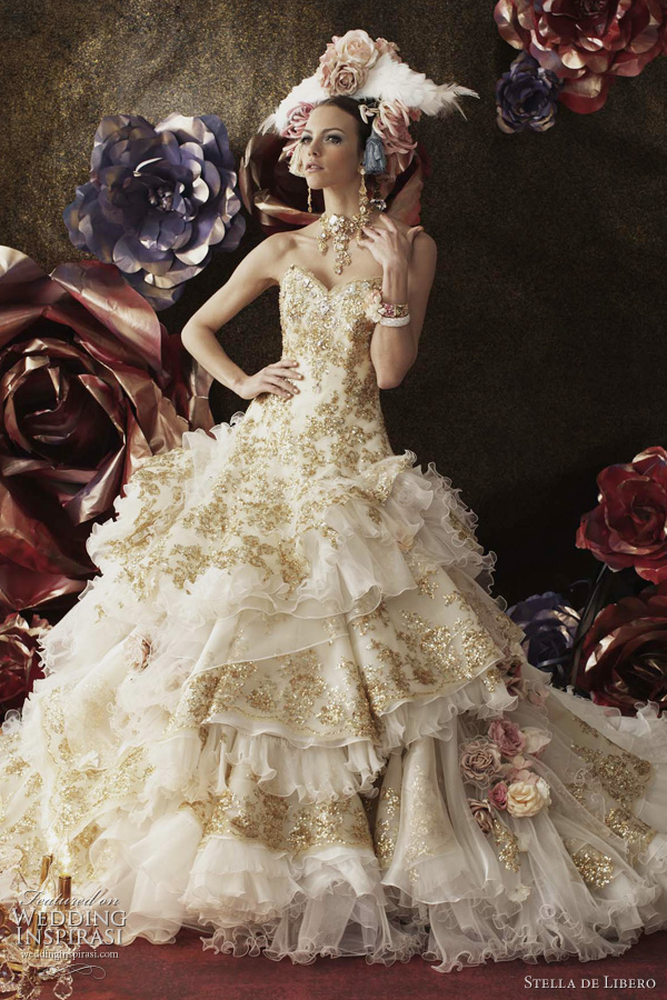 marie antoinette wedding dresses - Stella de Libero bridal collection 2011