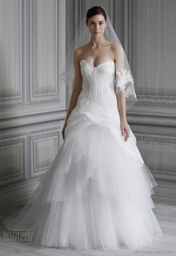 monique lhuillier 2012 bridal - pauline wedding dress