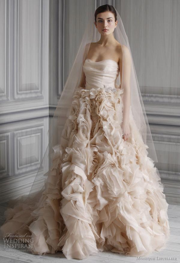 princess style wedding dress - monique lhuillier spring 2012 bridal collection