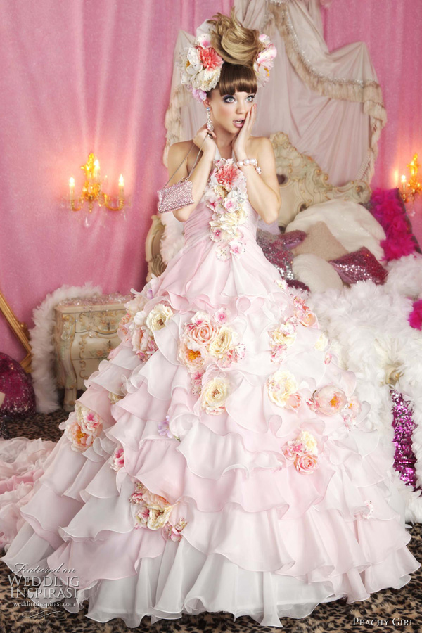 peachy girl 2011 2012 - cute pink wedding dresses