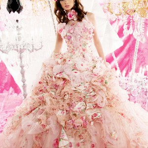 pink wedding dress peachy girl 2011