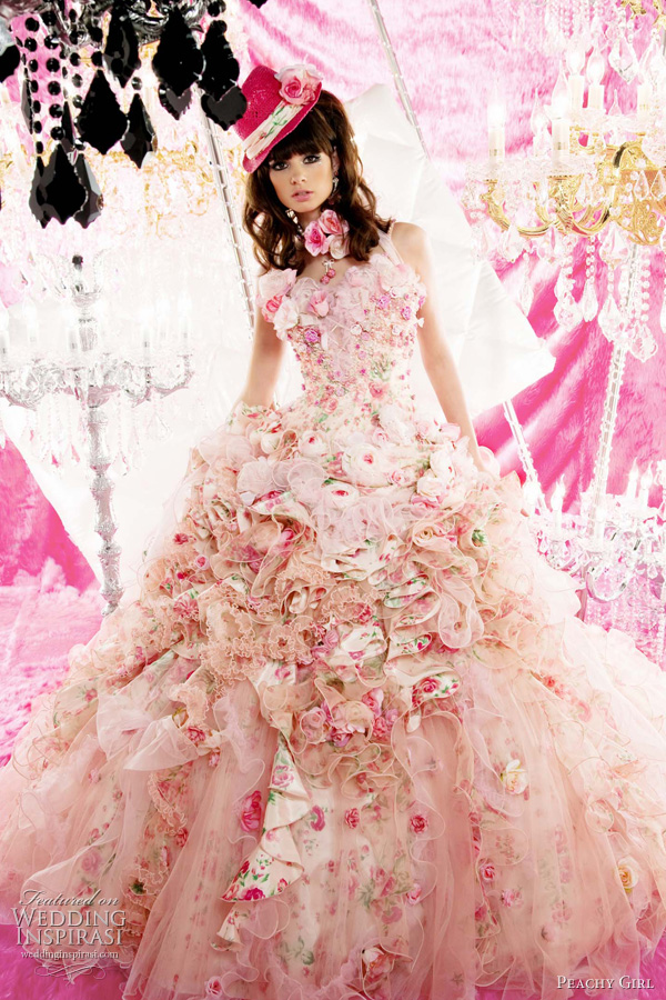 pink wedding dress peachy girl 2011 - pink bridal theme