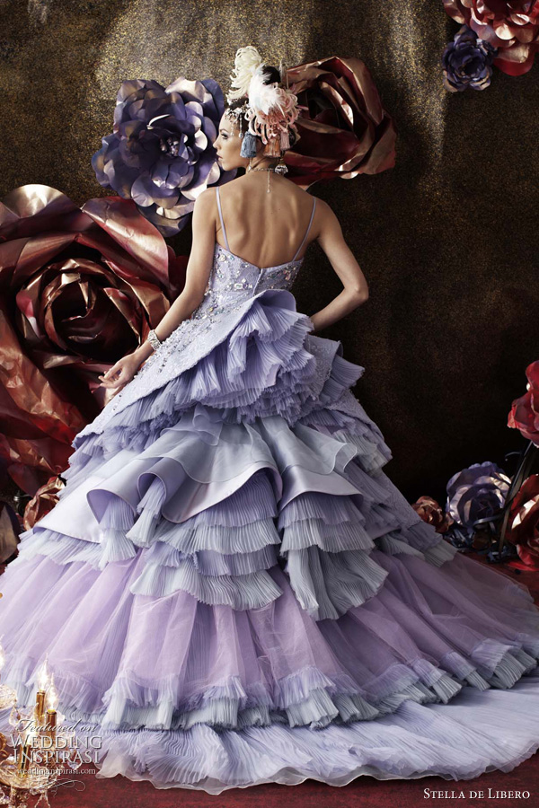 purple wedding dress stella de libero bridal collection 2011