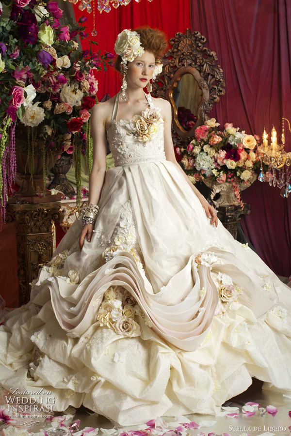rococo wedding dress stella libero - marie antoinette inspired gowns