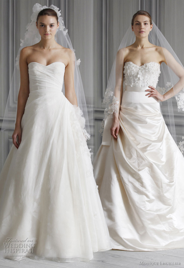 romantic wedding dresses 2012 - prince style bridal gowns monique lhuillier Spring 2012