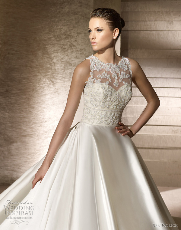 san patrick 2012 collection wedding dress setubal lace bodice ball gown