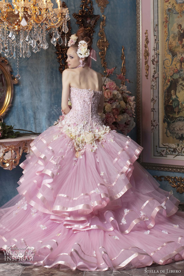 stella de libero pink wedding dresses