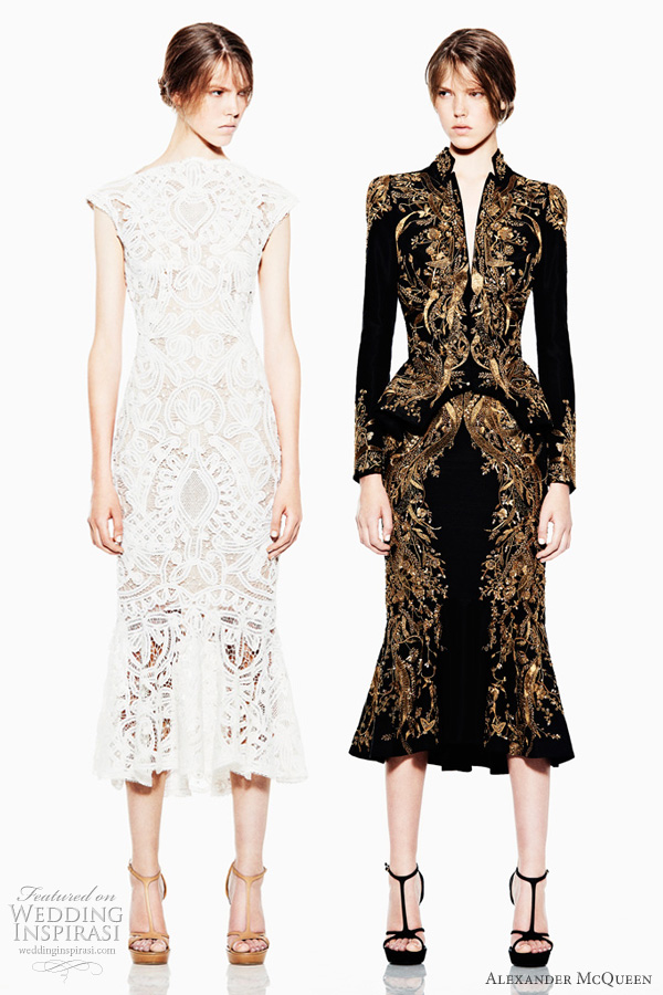 alexander mcqueen resort 2012 dresses