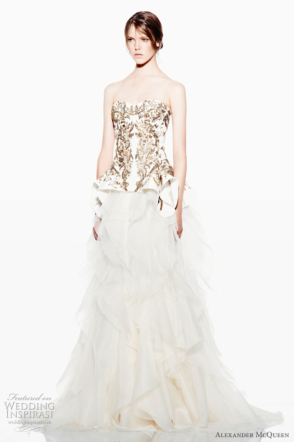 alexander mcqueen wedding dress 2012 resort