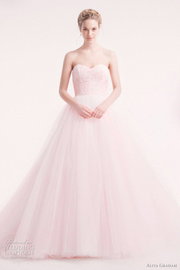 alita graham pink wedding dress