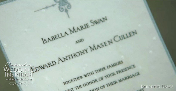 bella swan edward cullen invitation card - Isabella Marie Swan and Edward Anthony Masen Cullen wedding