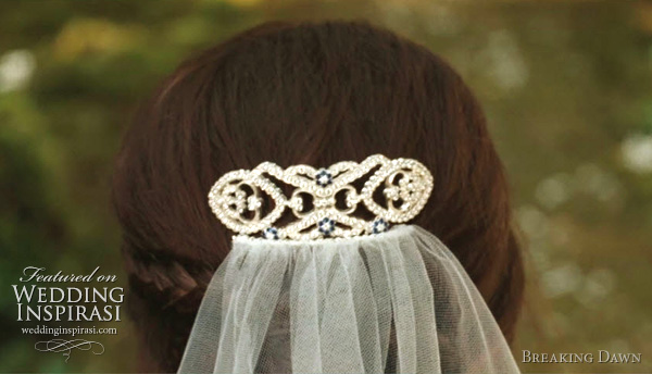 bella swan wedding veil hair piece