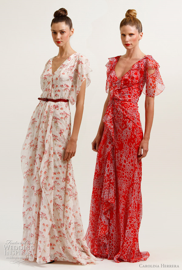 carolina herrera resort 2012 collection