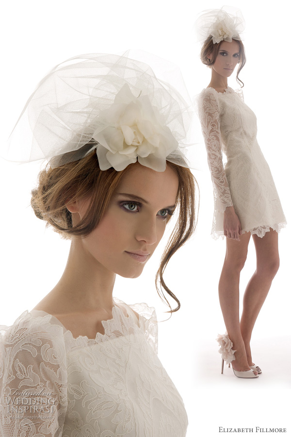 elizabeth fillmore bridal short wedding dress Belle