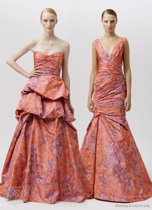 monique lhuillier resort 2012 collection - floral watercolor print dresses