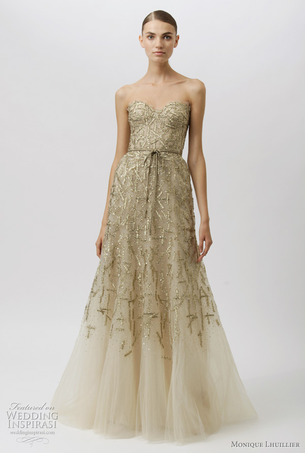 monique lhuillier wedding dresses 2012 - ideas from the resort collection