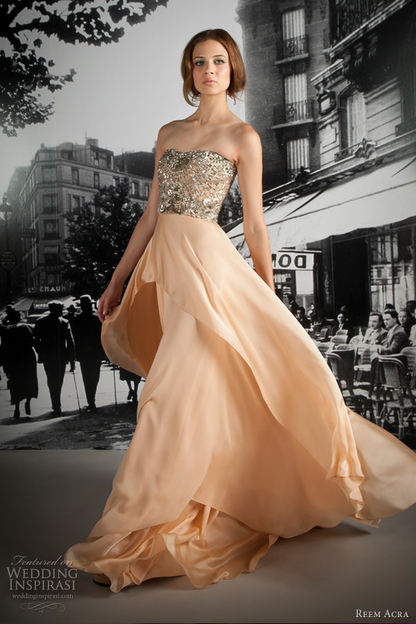 reem acra 2012 bridal wedding dress
