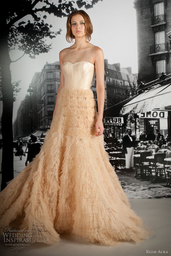 reem acra 2012 wedding dress