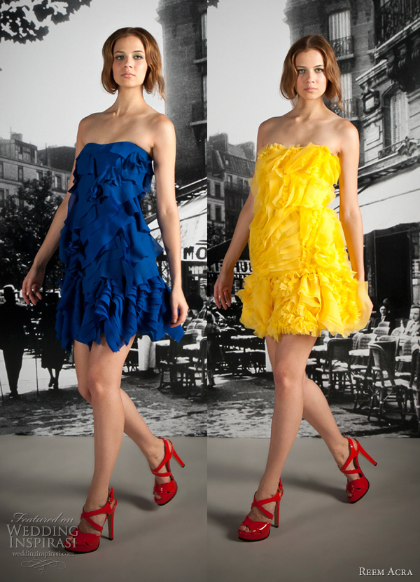 reem acra resort 2012 short party dresses