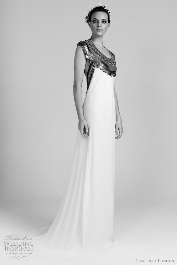 temperley london goddess wedding dress Long Faith gown and Long Faith gown