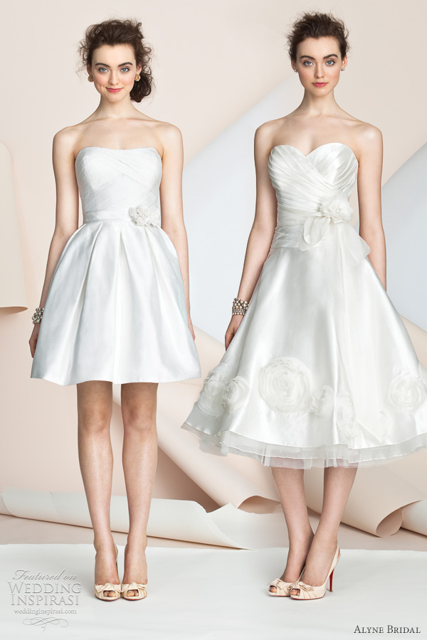 Alyne bridal wedding dresses spring 2012 collection for Short wedding dresses 2012