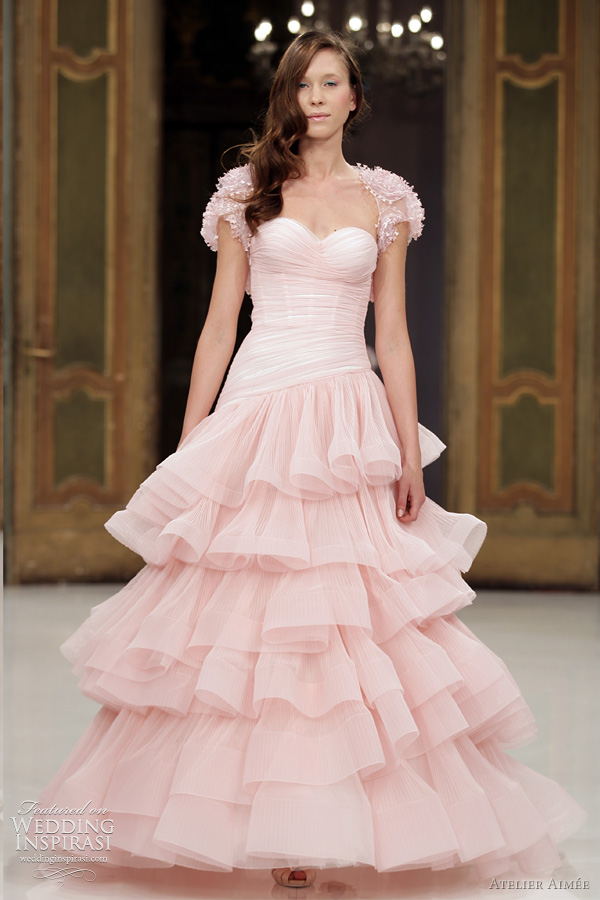 atelier aimee 2012 pink wedding dresses - federica