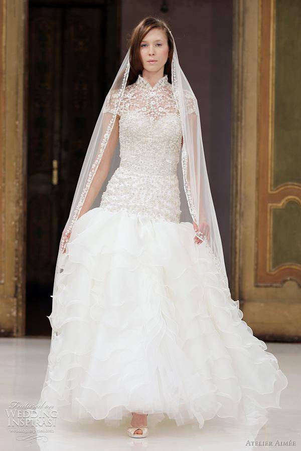 atelier aimee 2012 - sira high neck lace wedding dress