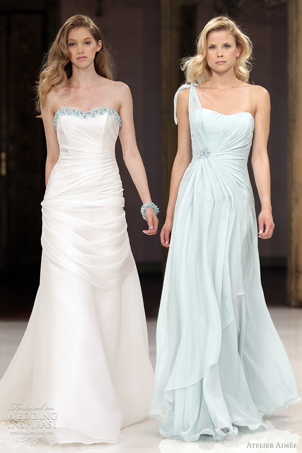 atelier aimee blue wedding dresses -  Barbie and Biky gowns