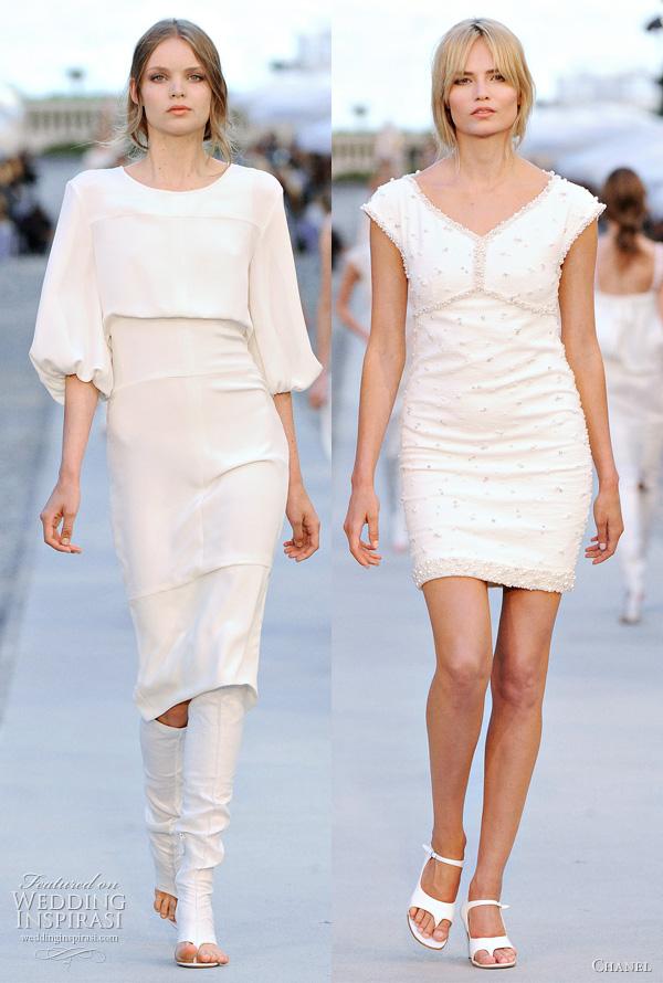 chanel resort 2012 short dresses