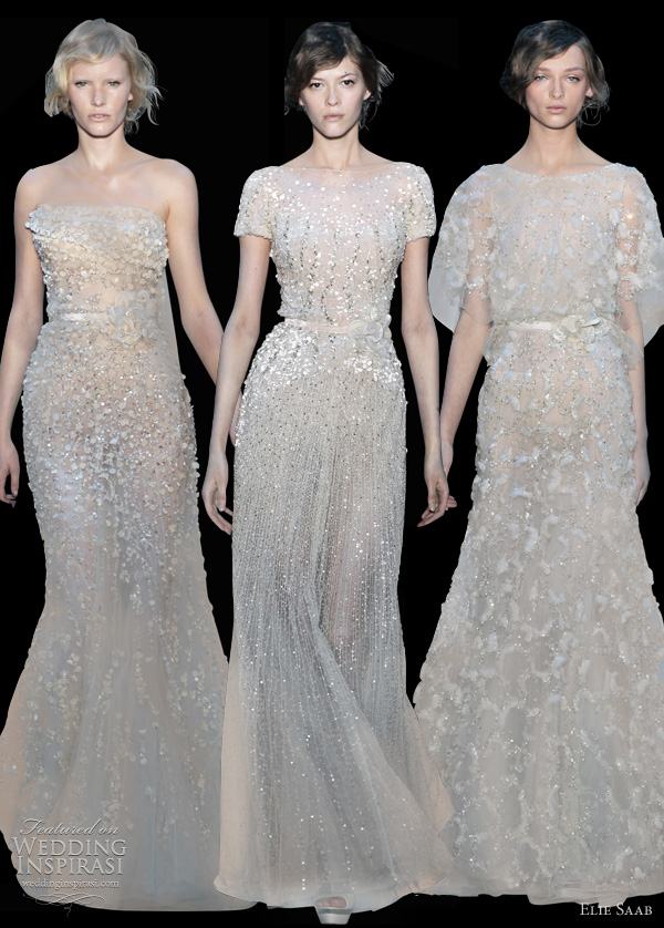 elie saab fall 2011 couture off white dresses