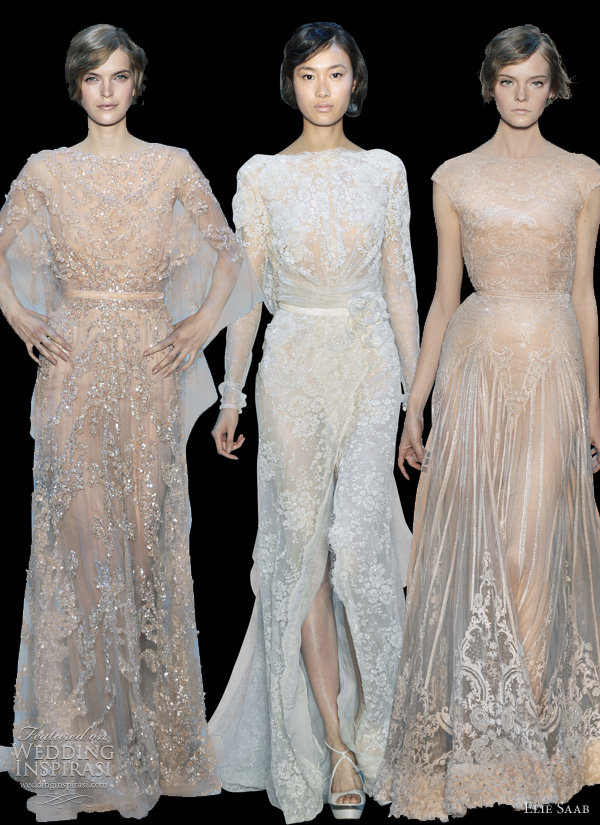 elie saab wedding dresses 2011 fall couture