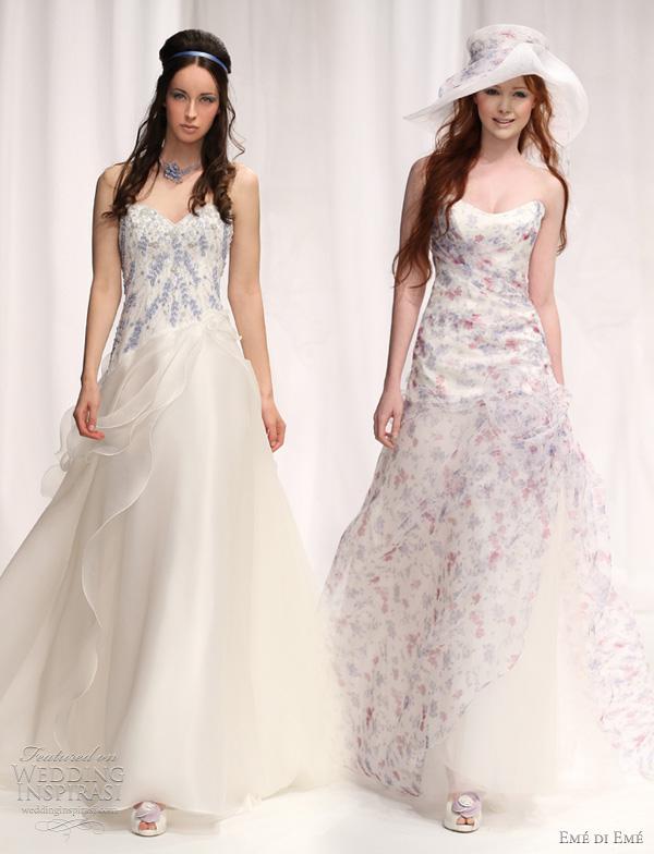 eme di eme 2012 wedding dresses - Melfi and Teora printed bridal gowns