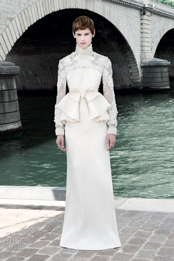 givenchy fall 2011 couture wedding dress
