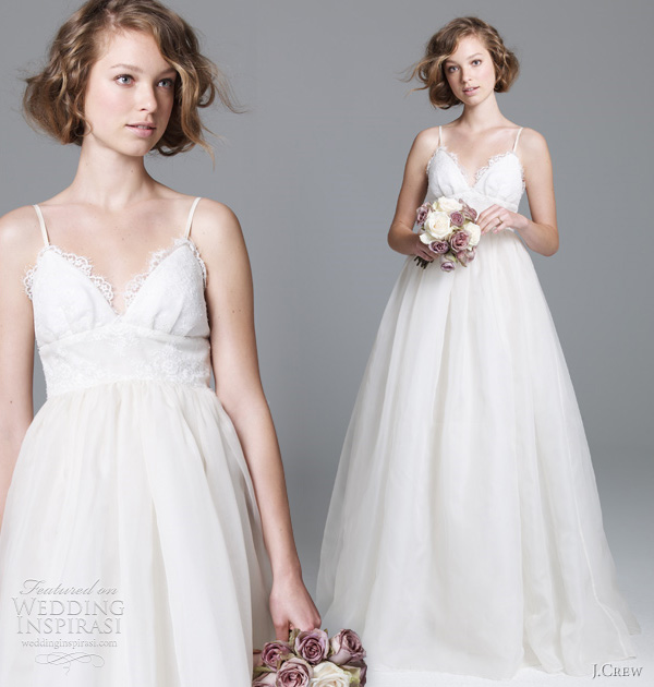 J Crew Wedding Dresses Fall 2011 Preview Wedding Inspirasi