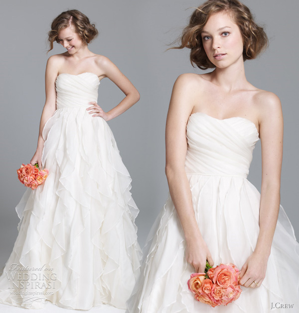 J crew wedding dresses fall 2011 preview wedding inspirasi for J crew wedding dresses