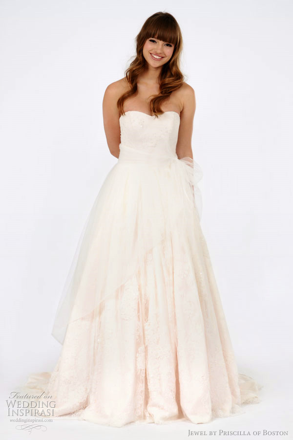 Jewel by priscilla of boston spring 2012 wedding dresses for Cheap wedding dresses boston