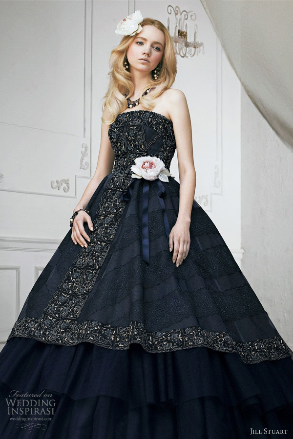 jill stuart black wedding dress