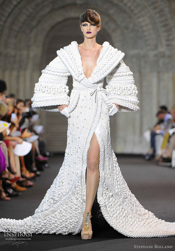 Stephane rolland fall 2011 couture wedding inspirasi for High fashion couture