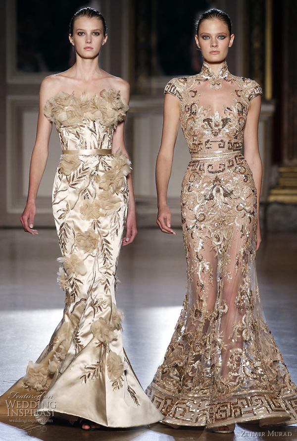 gold wedding dress inspirastion