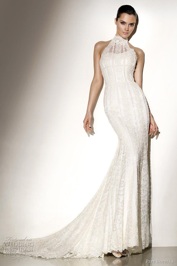 Pepe botella 2012 wedding dresses wedding inspirasi for Around the neck wedding dresses