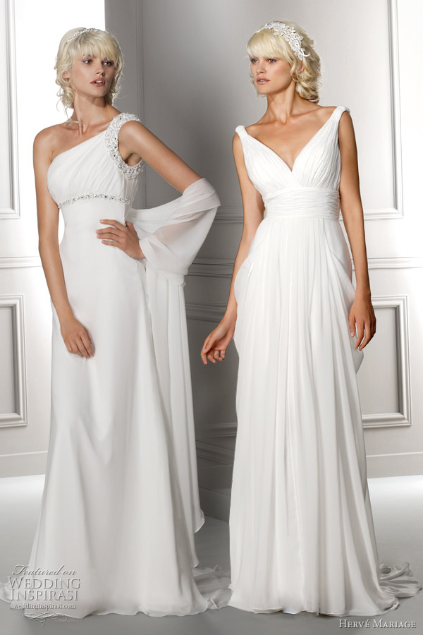 Grecian Inspired Wedding Dress