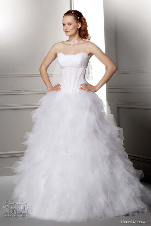 herve mariage 2012 - Look wedding dress