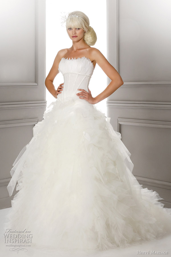 herve mariage luxe wedding dress