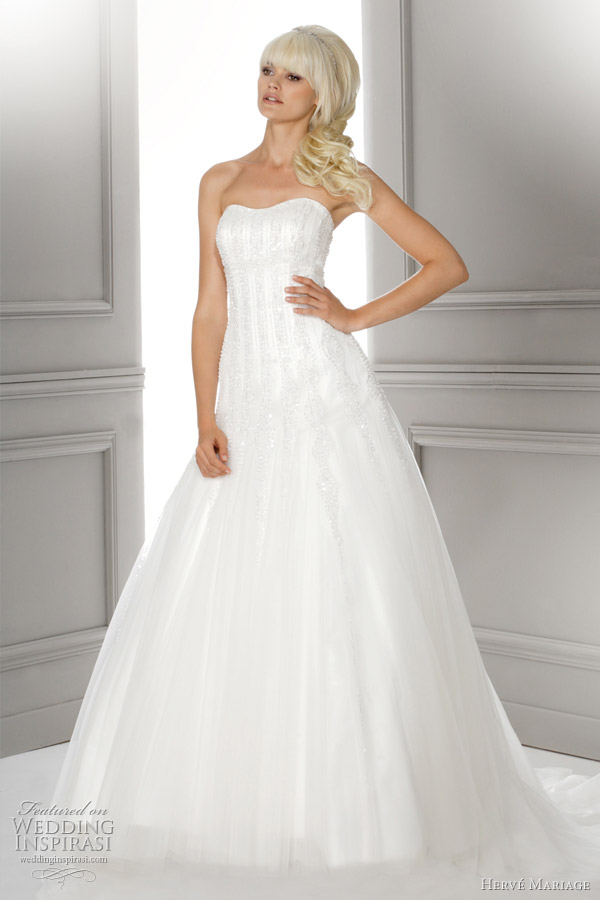 herve mariage paris louvre wedding dress